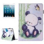 Coque Cuir iPad Mini 4 4/3/2/1 peinture Motif Panda Flip Étui horizontal en avec support et porte-monnaie fente carte Machine...
