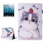 Coque Cuir iPad Mini 4 4/3/2/1 Peinture Tomate et Motif Cat flip étui en horizontal avec support porte-monnaie fente carte Ma...