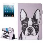 Coque Cuir iPad Mini 4 4/3/2/1 Peinture Motif Bulldog flip étui en horizontal avec support et porte-monnaie carte Machines à ...