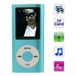 Lecteur MP4 1,8 pouces écran TFT avec fente carte TF, le soutien enregistreur, radio FM, E-Book et Calendrier Baby Blue - we...