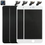 Écran LCD iPhone 6S Plus 2 PCS Noir + blanc 4 en 1 Caméra avant cadre pavé tactile Assemblée Digitizer - wewoo.fr