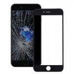 Vitre avant iPhone 7 plus écran externe Lentille en verre avec cadre de l'écran LCD Noir - wewoo.fr