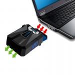 Support de refroidissement PC portable Ice Troll COOLCOLD ventilateur refroidisseur d'air vitesse réglable ordinateur à haute...