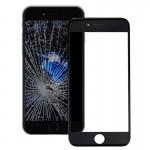 Vitre avant iPhone 7 plus iPartsAcheter Écran Lentille En Verre Extérieur avec Cadre LCD Noir - wewoo.fr