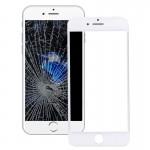Vitre avant iPhone 7 plus iPartsAcheter Lentille En Verre Externe Avec Écran LCD Cadre Lunette Blanc - wewoo.fr