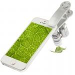 Microscope iPhone 60-100x Zoom téléphone portable avec clip Smile Universal, 60x Universal Argent - wewoo.fr