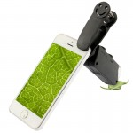 Microscope iPhone 60-100x Zoom téléphone portable avec clip Smile Universal Noir - wewoo.fr
