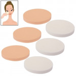 Éponges à cosmétique Forme ronde Usage professionnel Maquillage de visage sans défaut Powder Puff éponge x6 dans un emballage...