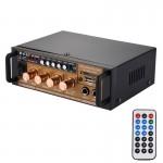 Ampli HiFi stéréo Amplificateur de puissance audio 180W + Lecteur numérique avec télécommande, support FM / SD MP3 USB, AC 22...