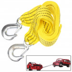 Corde de remorquage Voiture 3 Tons Vehicle Towing Cable Rope, Length: 3mYellow - wewoo.fr