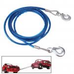 Corde de remorquage Voiture 5 tonnes véhicule Câble d'acier, longueur: 4 m Bleu - wewoo.fr