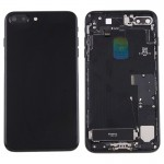 Coque arrière iPhone 7 Plus Battery Retour Assemblée couverture avec carte Plateau Jet Black - wewoo.fr
