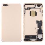 Coque arrière iPhone 7 Plus Battery Retour Assemblée couverture avec carte Plateau Gold - wewoo.fr
