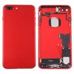 Coque arrière iPhone 7 Plus Battery Retour Assemblée couverture avec carte Plateau Rouge - wewoo.fr