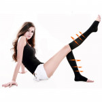 Chaussettes dames Stovepipe Varices Slim Minceur Leg Warmers Noir - wewoo.fr