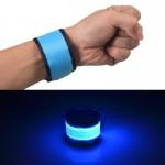 LED Lumineux Slap Pat Cercle Extérieur Sport bracelet, Grand, Taille: 35 * 4 cm Bleu - wewoo.fr