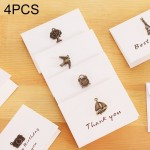 fournitures de bureau 4 PCS Creative Simple Mini Ornements Carte Voeux D'anniversaire BRICOLAGE Pliage Bénédiction Postale, S...