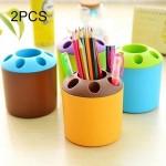 Porte-stylo 2 PCS multifonction couleur créatif stylo ÉTUI Brosse à dents Siège école Papeterie vie fournitures de bureau, al...