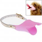 Muselières chien Canard mignon forme de la bouche silicone Muselière chien, Taille: L Rose - wewoo.fr