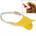 Muselières chien Canard mignon forme de la bouche silicone Muselière chien, Taille: L Jaune - wewoo.fr
