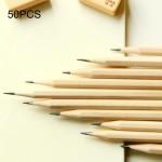 Crayon 50 PCS brut en bois protection de l'environnement HB Crayons peinture l'école fournitures bureau enfants - wewoo.fr