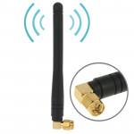 Antenne Wifi 435MHZ Haute Qualité 3dBi SMA Mâle Noir - wewoo.fr