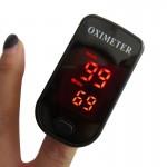 Tensiomètre Finger Pulse Oximete LED HD Display oxymètre portable Equipement médical Moniteur d'oxygène sanguin de pouls Noir...