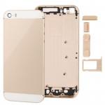 Boitier intégral iPhone 5S Pleine de logement remplacement en alliage Retour Couvrir avec Bouton Mute + d'alimentation Volume...