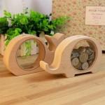 Creative Cartoon Coin Pots transparent Bois animaux Conception Tirelire, Livraison Style aléatoire - wewoo.fr