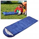 Tapis de camping Sac couchage chaud Rectangle Bleu - wewoo.fr