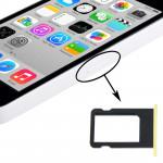 Kit de boutons iPhone 5C Porte-carte SIM Plateau jaune - wewoo.fr