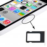 Kit de boutons iPhone 5C Porte-carte SIM Plateau Blanc - wewoo.fr