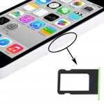 Kit de boutons iPhone 5C Porte-carte SIM Plateau vert - wewoo.fr