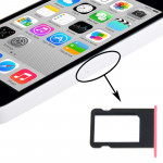 Kit de boutons iPhone 5C Porte-carte SIM Plateau Rose - wewoo.fr