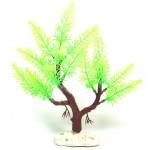 Décoration aquarium Arbre artificiel d'herbe en Figurines Miniatures poissons d'aquarium Paysage Réservoir, Taille: 22,0 x 24...