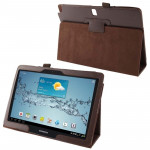 Housses Galaxy Tab Note 10.1 2014 P600 Litchi Texture étui en cuir avec support Samsung / 2014 Edition, Brown Brown - wewoo.fr