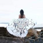 Serviette de plage Ronde d'été bain Microfibre sable Châle Foulard, Taille: 150 x cm - wewoo.fr