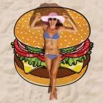 Serviette de plage Hamburg Motif imprimé d'été bain sable Châle Foulard, Taille: 150 x cm - wewoo.fr