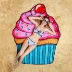 Serviette de plage Ice Cream Motif imprimé d'été bain sable Châle Foulard, Taille: 150 x cm - wewoo.fr