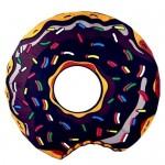 Serviette de plage Motif Donuts noir imprimé d'été bain sable Châle Foulard, Taille: 150 x cm - wewoo.fr