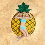 Serviette de plage Motif d'ananas Imprimé été bain sable Châle Foulard, Taille: 150 x cm - wewoo.fr