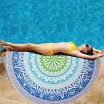 Serviette de plage Imprimé ronde d'été bain sable Châle Foulard, Taille: 150 x cm n°2 - wewoo.fr