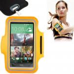 Brassard Galaxy S5 G900 PU Sport cas avec et écouteurs trou clé de poche HTC One M7 / M8 Samsung S IV i9500 III i9300 Orange ...