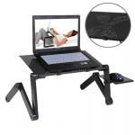 Support d'ordinateur portable 360 ??degrés réglable Bureau en alliage d'aluminium pliable avec tapis de souris ordinateur / p...