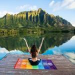 Serviette de plage Polyester Imprimé d'été bain Place Rainbow Beach Sable Châle Foulard Tenture Yoga Mat, Taille: 150 x 75 cm...
