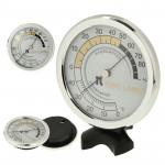 Thermomètre intérieur et hygromètre d'intérieur TH123 argent - wewoo.fr