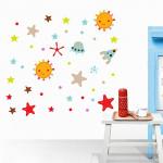 Sticker mural Autocollants muraux amovibles auto-adhésifs de PVC mode DIY / images décoration d'intérieur Chambre - Sun & Sta...