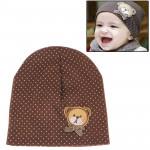 Chapeau de bébé doux en coton style ours - wewoo.fr
