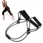 Appareils Biceps Entraînement de corde en caoutchouc formation corps forme X noir - wewoo.fr