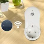 16A 2.4GHz Alexa WiFi Smart Control minuterie Accueil Prise d'alimentation AC 100-240V, EU Plug - wewoo.fr